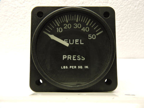 Fuel Pressure Gauge, 50PSI, R88-I-1872, Bureau of Aeronautics US Navy