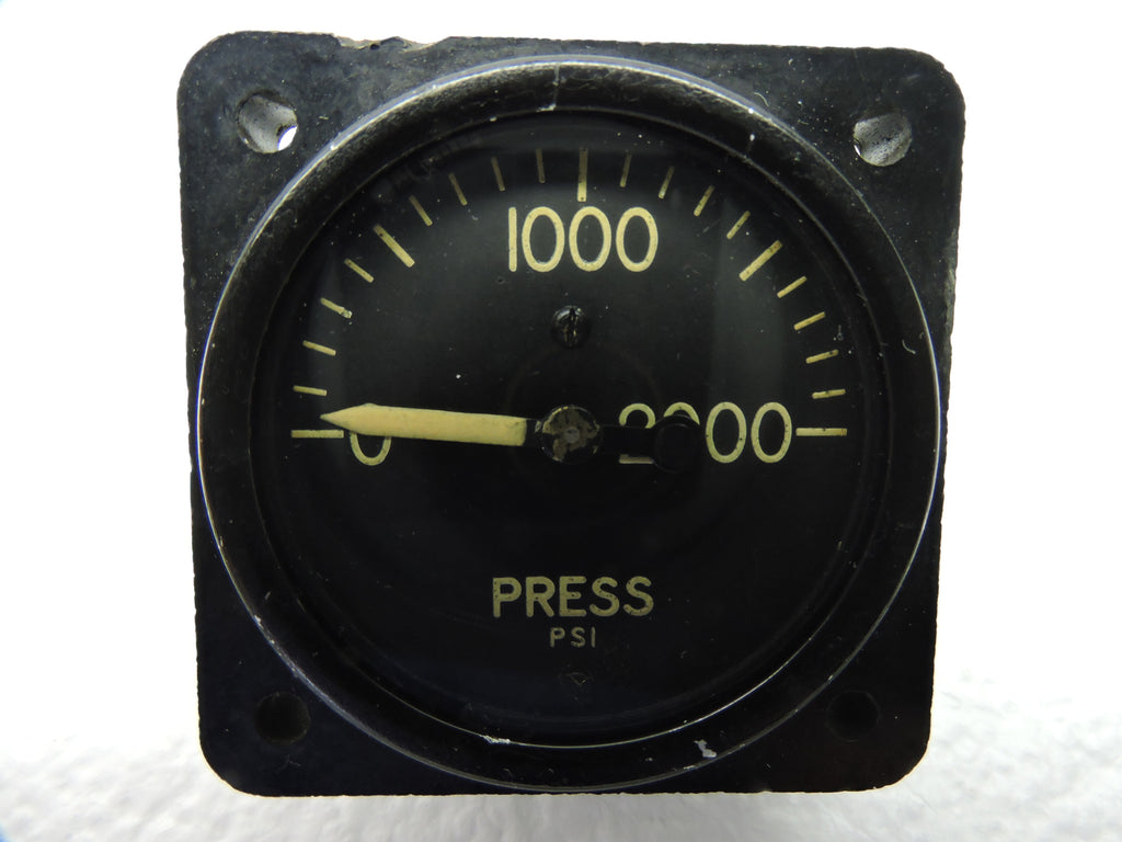 Pressure Gauge, 2000PSI, PN 12882-A, AN5771-4, similar to use in B-17, B-24