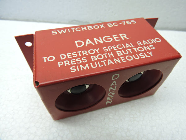 IFF Radio Destruct Switch Box BC-765 WW2; B-17, B-24, B-29