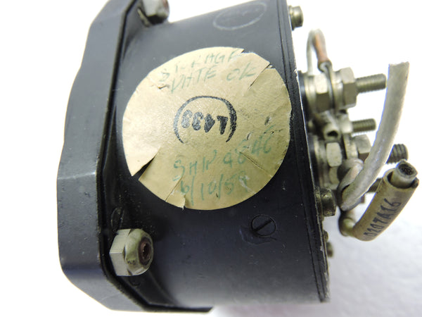 Ammeter, DC, Dual Engine, Weston 827 Type 28Y1, C-121 Lockheed Constellation