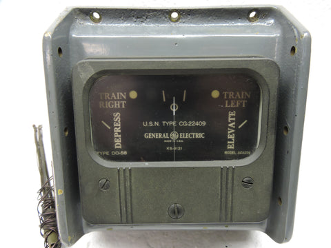 Gun Train/Elevation Meter, Radar Fire Control, US Navy Ships Turret, CW-22AAD, WWII