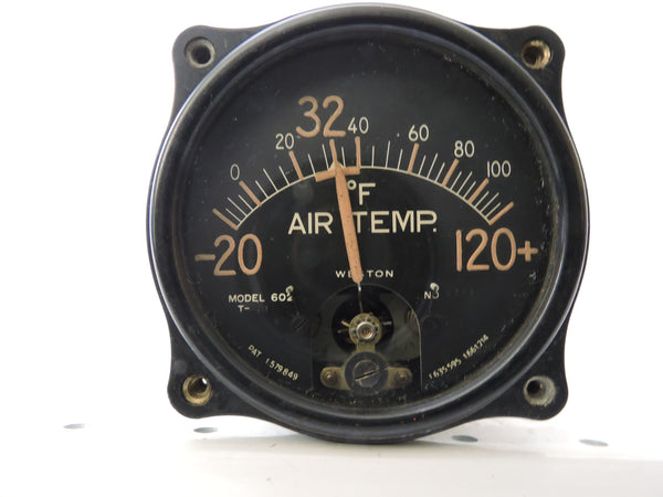 Free Air Temperature Indicator Weston 602 DC-3, Beech Staggerwing UC-43