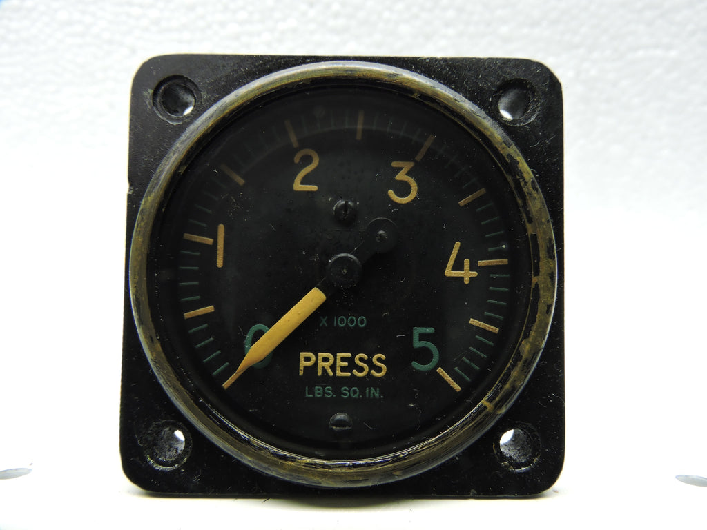 Pressure Gauge, 5000PSI, PN AW-1 7/8-17CZ6, AN-5771 MIL-G-7734, US Navy