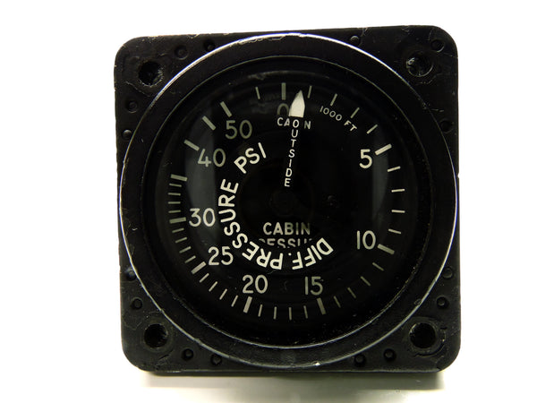 Cabin Altitude and Differential Pressure Indicator, F-89B Scorpion