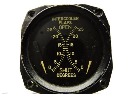 Intercooler Flap Position Indicator, Boeing B-50 Superfortress Bomber, Type DJ-28