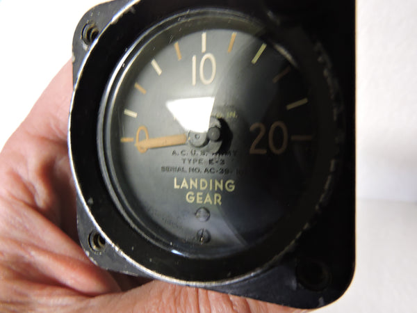 Landing Gear Pressure Indicator Type E-3 2000 PSI Air Corps US Army