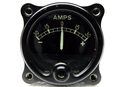 Ammeter 30-0-30 amps, Battery, Type D-30, US Navy PBM-5 Mariner