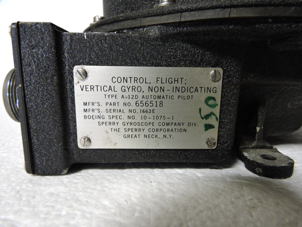 Vertical Gyro Control, US Air Force Type E-4 Autopilot/A-12 Gyrosyn, 656518
