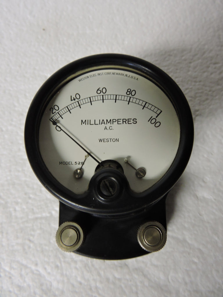 Ammeter, 0-100 Milliamps AC, Weston Model 528