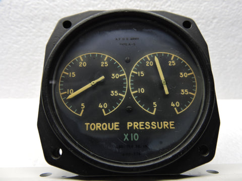 Torque Pressure Indicator, Dual Engine, AJ SAVAGE Bendix