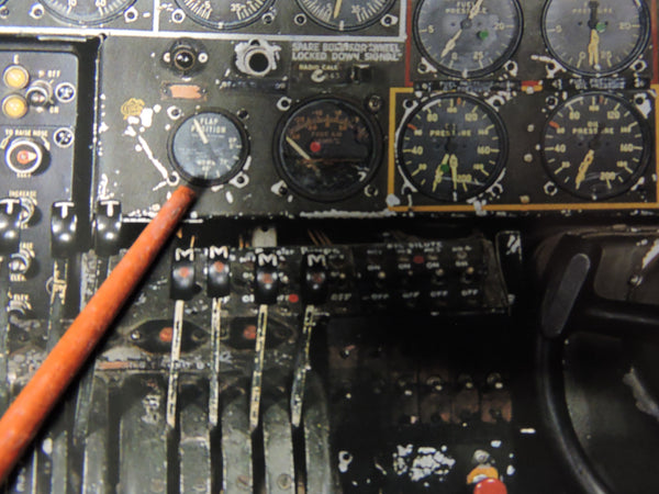 Flap Position Indicator B-24 Liberator, PB4Y Privateer, WWII GE DJ11