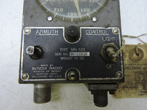 Control Unit, Bendix MN-52G, for MN-20E Radio Loop Antenna, RA-10 Receiver