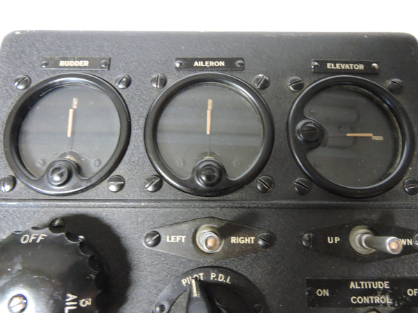 Autopilot Control Panel for A-5 Auto Pilot System, Sperry