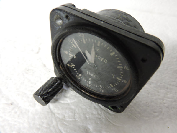 Aircraft Clock, Elapsed Time, Elgin, Cold War F9F, FJ-2