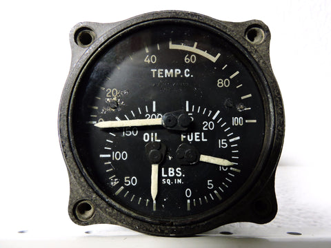Engine Gage Unit for US Army Air Force Fighters, 1942, Type B-7, AN-5774-B