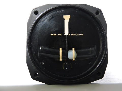 Turn & Bank Indicator, Electric, US Navy Aircraft 1970