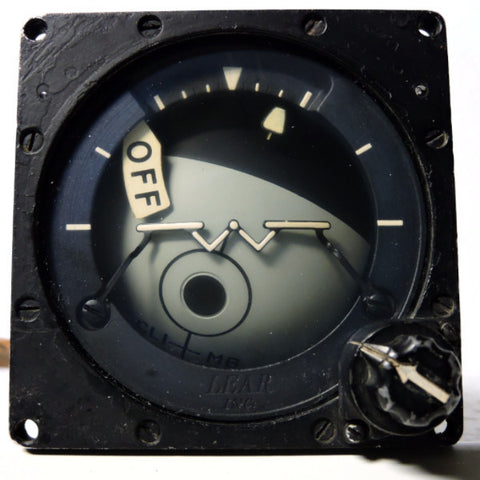 Attitude Indicator, Remote/Standby, Type MM-2 USN RF-4B Phantom
