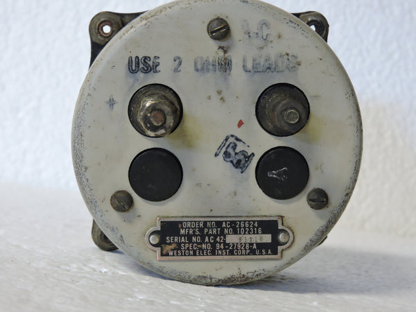 Cylinder Head Temperature Indicator, Type B-9, US Army Air Corps WWII