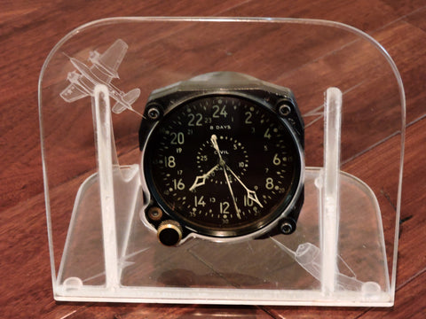 Aircraft Clock, 8-day Civil Date Indicator Aeronaval (CDIA) Waltham WWII