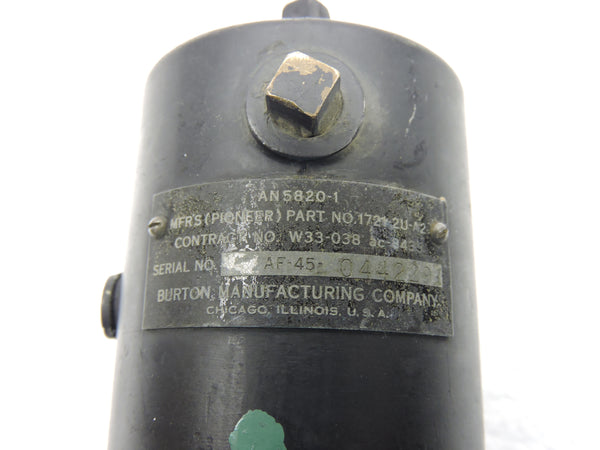 Turn & Bank Indicator, AN5820-1 WWII US Army Air Force
