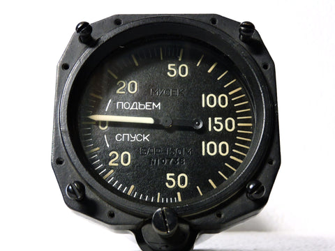 Vertical Speed / Rate of Climb Indicator, USSR 150 meters/second