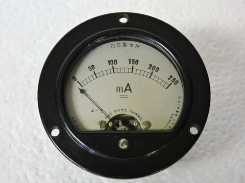 Ammeter, 250mA, WWII Japanese Navy Aircraft