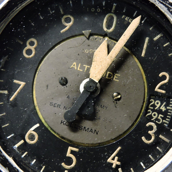 Altimeter, Sensitive, Type C-12, 50,000 ft, Air Corps US Army WWII B-17, B-24, P-38, P-51