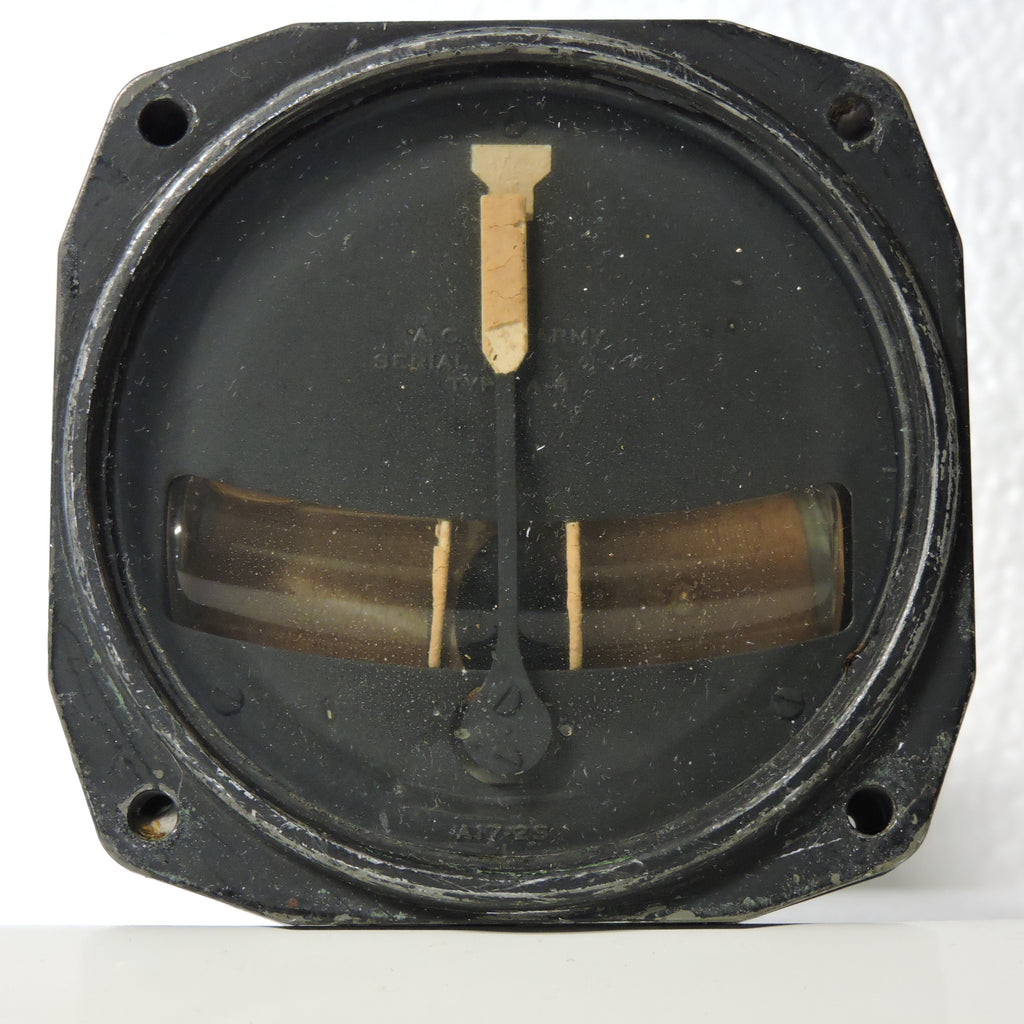 Turn and Bank Indicator Type A-8, Air Corps US Army, WWII, B-17, P-51, P-38