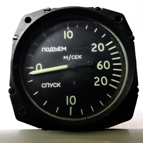 Rate of Climb / Vertical Speed Indicator, USSR 60 meters/second