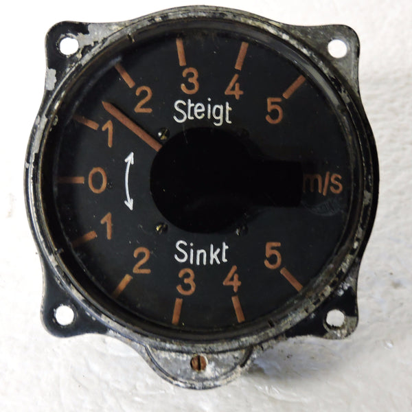 Rate of Climb / Vertical Speed Indicator, 5 M/S, Luftwaffe Variometer