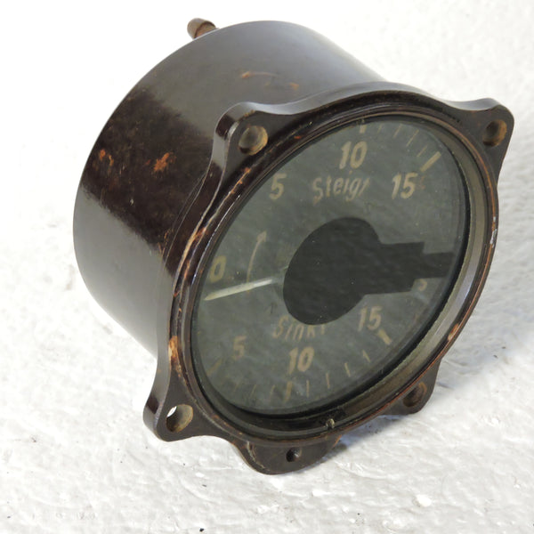 Rate of Climb / Vertical Speed Indicator, 15 M/S, Luftwaffe Variometer Fl.22386