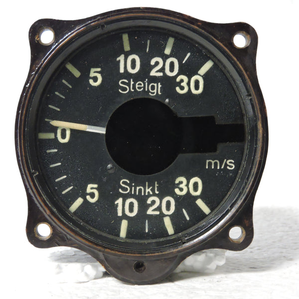 Rate of Climb / Vertical Speed Indicator, 30 M/S, Luftwaffe Variometer Fl.22386