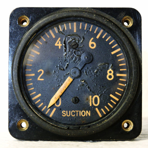 Suction Gage, AN 5771-5, US Army Air Force WWII