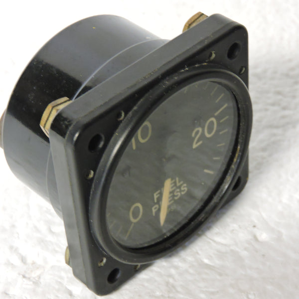 Fuel Pressure Indicator, 0-25PSI, MIL-G-7734B (AN5771-8)