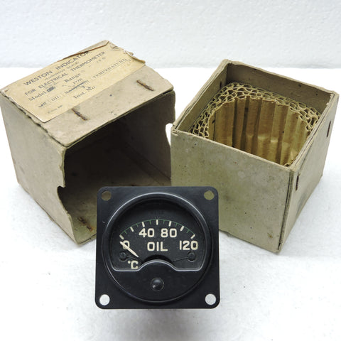 Oil Temperature Indicator, 0-120deg C, Mk IIA, 6A/1479 RAF Air Ministry