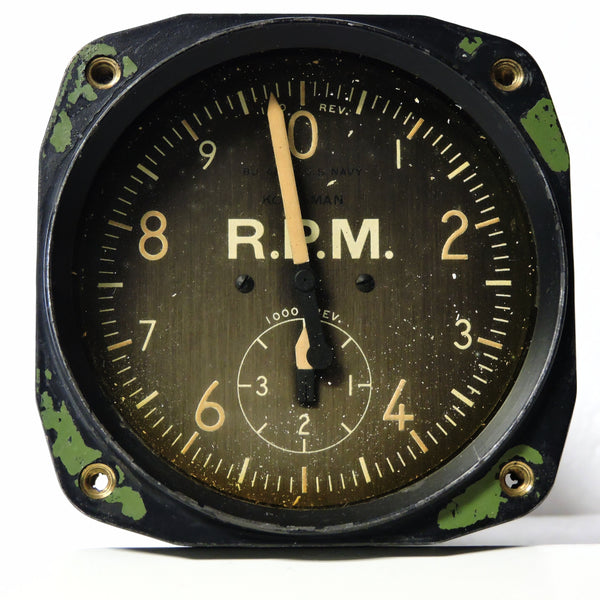 Tachometer, Electric, US Navy Mark V, 88-I-2500 TBM Avenger