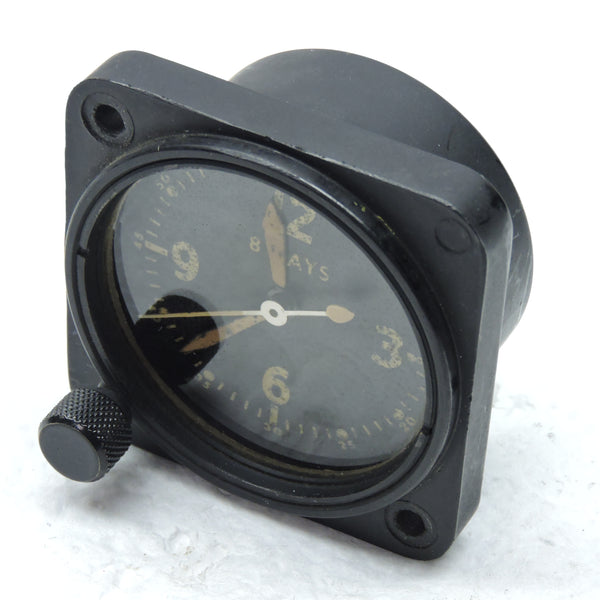 Aircraft Clock, 8-day, Type A-11 AN-5743-1 For parts or repair