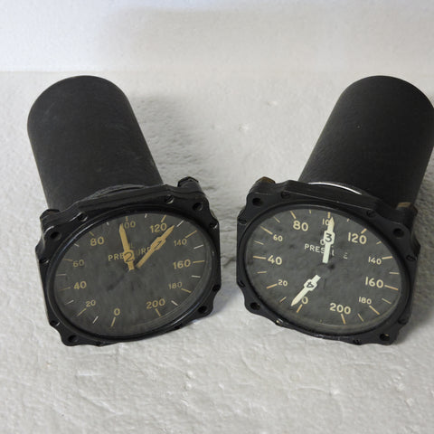 Oil Pressure, Dual, Set for 4-Engine Aircraft, Type B-9A