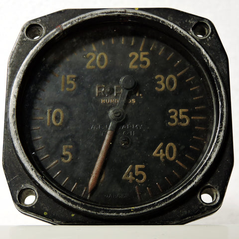 Tachometer, Chronometric, Type C-11, WWII Air Force US Army