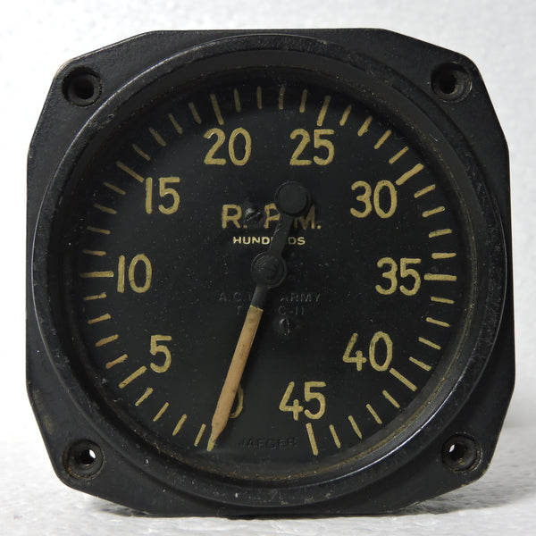 Tachometer, Chronometric, Type C-11, WWII, Air Corps US Army