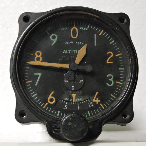 Altimeter, Sensitive, AN-5728, 35,000 ft, US Navy WWII 209-02, R88-A-300