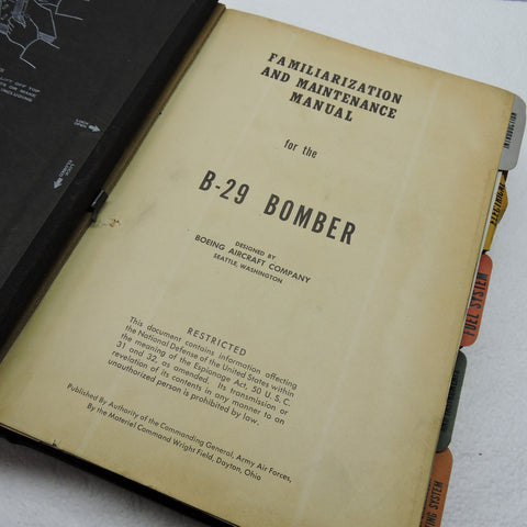 B-29 Superfortress Familiarization and Maintenance Manual, USAAF 1944
