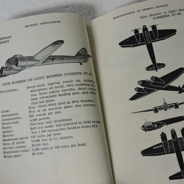 Identification of German Aircraft/Luftwaffe, US War Dept, 1942, FM 30-35