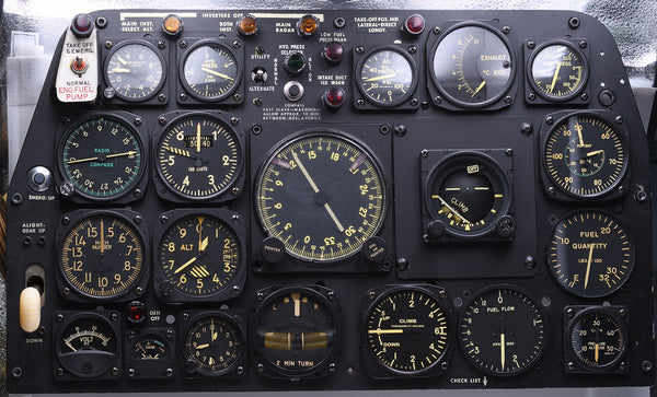F-86 Sabrejet Fighter Instrument Panel