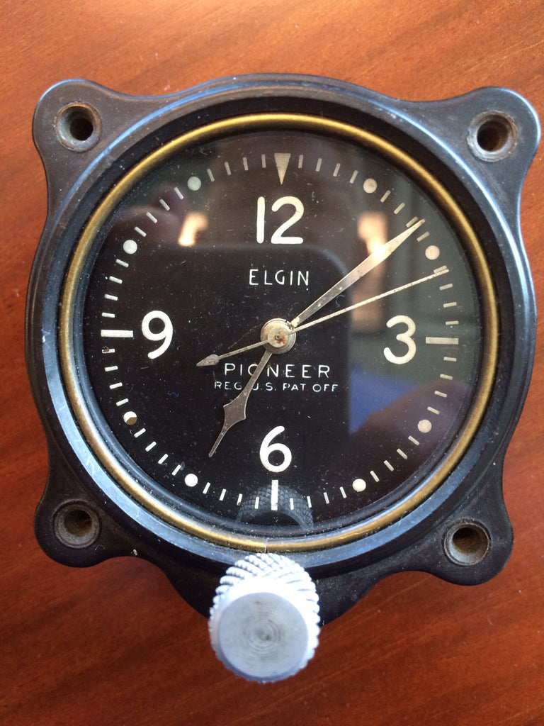 Aircraft Clock Elgin Pioneer 3310-2-A
