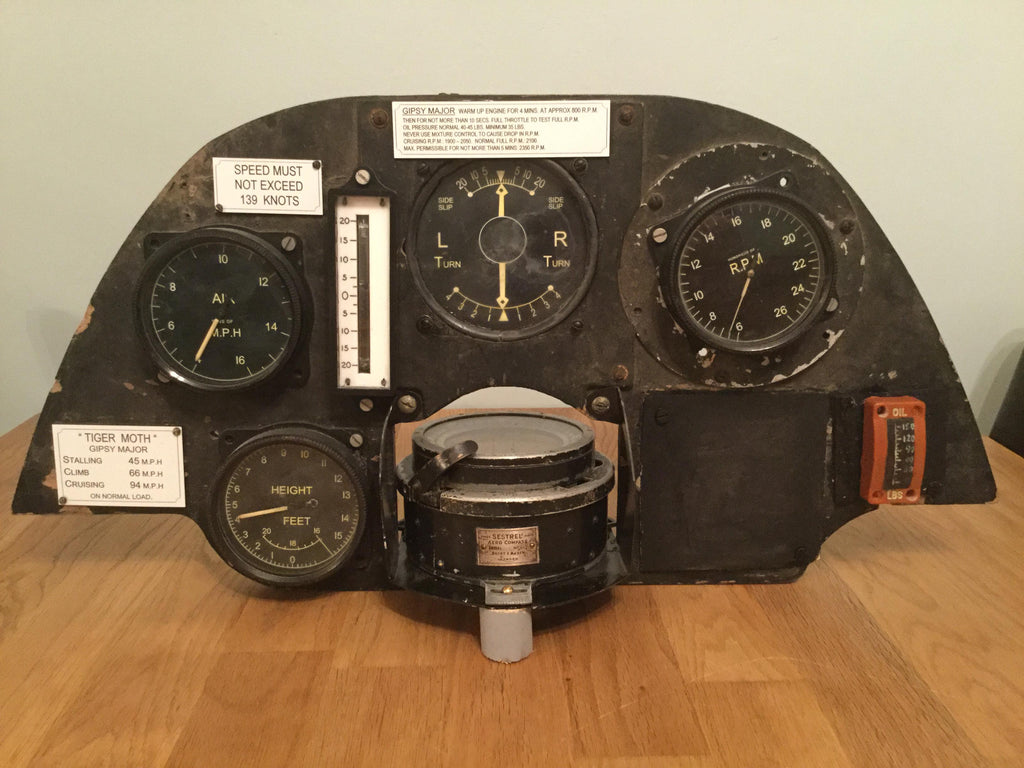 Tiger Moth Instrument Panel
