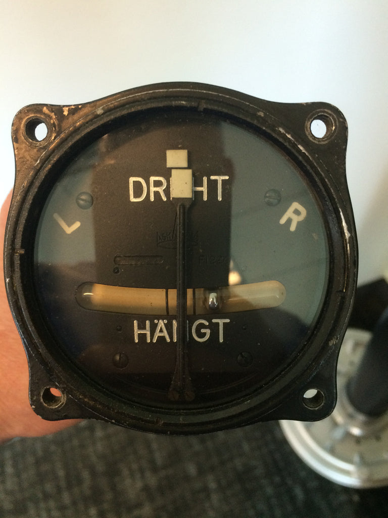 Turn and Bank Indicator, (Wendezeiger) Luftwaffe, Fl 22402, Pneumatic