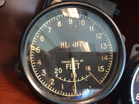 Altimeter, Mk XIIIB, 0-20,000ft, British Royal Air Force