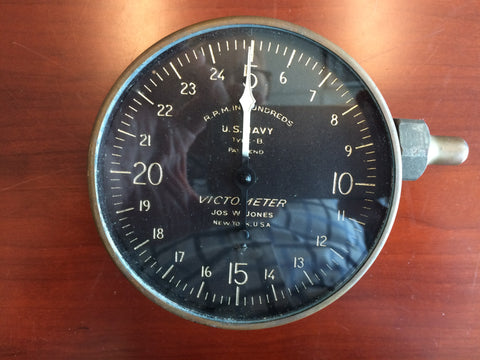 Tachometer, Victometer Centrifugal, Type B, US Navy 1920s
