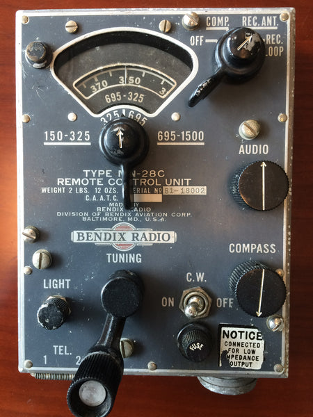 Control Unit, Bendix MN-28C for Radio Compass System MN-26